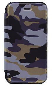 For Lommebok / Kortholder Etui Heldekkende Etui Kamuflasje Farge Hard PU-lær for AppleiPhone 7 Plus / iPhone 7 / iPhone 6s Plus/6 Plus /