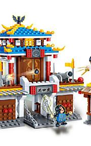 Bonecos & Pelúcias / Blocos de Construir para presente Blocos de Construir Modelo e Blocos de ConstruçãoArquitetura Chinesa / Casa /