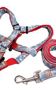 כלבים רתמות / רצועות חוזרמתכווננת / בטיחות טלאים Red / Black / כחול בד