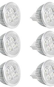 4W GU5.3(MR16) LED-spotpærer MR16 Høyeffekts-LED 380 lm Varm hvit / Kjølig hvit V 6 stk.