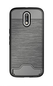 Per Porta-carte di credito / Con supporto Custodia Custodia posteriore Custodia Tinta unita Resistente TPU per MotorolaMOTO G4 / Moto G4