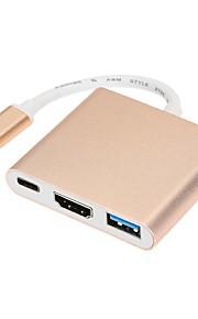 usb 3.1 type C til hdtv hdmi / usb 3.0 / type c konverter adapter kabel til ny macbook 12 tommer Chromebook Pixel og mere