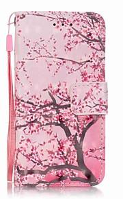körsbärsträd 3d målning pu ringer fallet för Apple iTouch 5 6