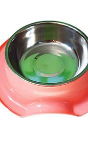 Hund Matbehållare Husdjur Skålar & Feeding Vattentät / Ledigt/vardag Grön / Blå / Rosa Plast / Rostfritt Stål
