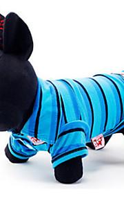 Cani T-shirt Blu Abbigliamento per cani Estate / Primavera/Autunno Righe Casual