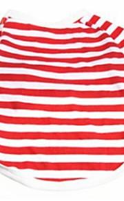 honden T-shirt Rood Hondenkleding Zomer / Lente/Herfst Streep Casual/Dagelijks