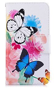 For Wallet / Card Holder / with Stand Case Full Body Case Butterfly Hard PU Leather for Google Google Pixel / Google Pixel XL