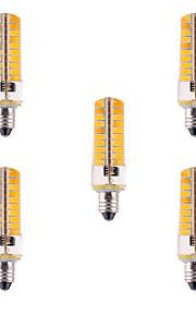 5pcs YWXLight® Dimmable E11 7W 80 SMD 5730 500-700 LM Warm White / Cool White Corn Bulbs AC 110V / AC 220V