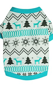Dog Shirt / T-Shirt Blue Dog Clothes Winter / Summer Snowflake Cute / Fashion / Christmas