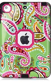 Per Acqua / Dirt / Shock Proof Fantasia/disegno Custodia Integrale Custodia Fiore decorativo Resistente TPU per Apple iPad Mini 3/2/1