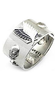 Smycken Inspirerad av Attack on Titan Cosplay Animé Cosplay Accessoarer Armband Silver Legering Man Kvinna