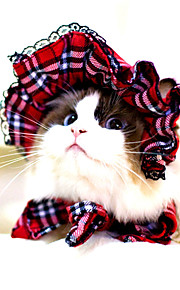 Katter / Hundar Bandana & Hattar Röd / Svart Hundkläder Vinter / Sommar / Vår/Höst Stribet Gulligt / Klassisk / Halloween