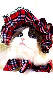 katten / honden Bandana's & Hoeden Rood / Zwart Hondenkleding Winter / Zomer / Lente/Herfst Streep Schattig / Klassiek / Halloween