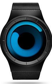 Masculino Relógio de Pulso Único Criativo relógio Quartzo Impermeável Resistente ao Choque Aço Inoxidável Banda Casual Preta marca SINOBI