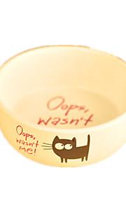 Кошка / Собака Кормушки Животные Чаши и откорма На каждый день Белый Керамика