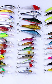 "38 pcs Hard Bait / Fishing Lures Hard Bait Assorted Colors 8 g/5/16 oz. Ounce mm/3-1/4"" inch,Hard Plastic Bait Casting / General Fishing"