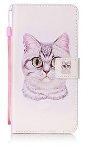 ל ארנק / מחזיק כרטיסים / עם מעמד מגן גוף מלא מגן חתול קשיח דמוי עור ל Lenovo Lenovo Vibe K5 / Lenovo A6000 / Lenovo K3 Note