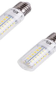 4W E26/E27 LED-kornpærer T 56 SMD 5730 240 lm Kjølig hvit Dekorativ AC 220-240 V 2 stk.