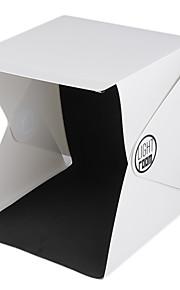 más nuevo mini portátil de la foto caja de la fotografía de estudio telón de fondo incorporado en la caja de luz foto