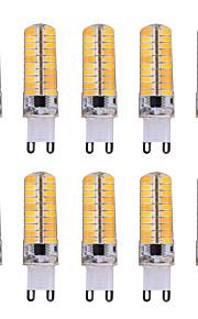 10pcs YWXLight® Dimmable G9 7W 80 SMD 5730 500-700 LM Warm White / Cool White LED Corn Bulbs AC 110V / AC 220V