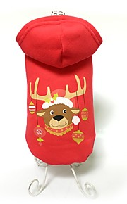 Dog Coat / Hoodie Red Dog Clothes Winter Animal Cute / Fashion / Keep Warm / Christmas