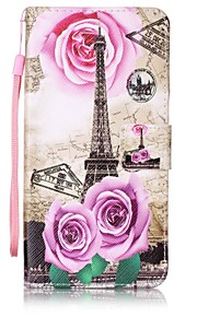 For Wallet / Card Holder / with Stand Case Full Body Case Eiffel Tower Hard PU Leather for LenovoLenovo Vibe K5 / Lenovo A6000 / Lenovo