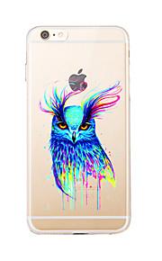 Para Transparente / Diseños Funda Cubierta Trasera Funda Búho Suave TPU para AppleiPhone 7 Plus / iPhone 7 / iPhone 6s Plus/6 Plus /