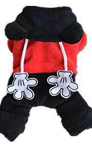 Dog Clothes/Jumpsuit Black Dog Clothes Winter / Spring/Fall Animal Cute / Casual/Daily