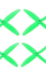 RC hélices RC Quadrotor Verde Plástico 4PCS