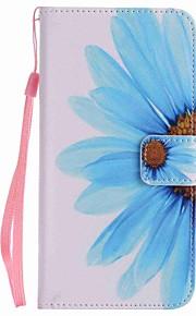 Per A portafoglio / Porta-carte di credito / Con supporto Custodia Integrale Custodia Fiore decorativo Resistente Similpelle per Google