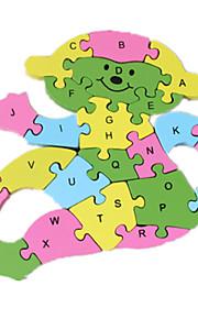 puslespil Puslespil Byggesten DIY legetøj 1 Træ Regnbue
