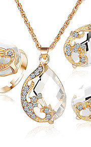 2017 Jewelry Sets 5 Color Crystal Peacock Jewelry Sets Bride Wedding Necklace Earrings Ohrringe Ring Set parure bijoux femme