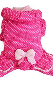 Dog Clothes/Jumpsuit Rose Dog Clothes Winter / Spring/Fall Polka Dots Casual/Daily / Keep Warm