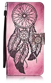 For Wallet / Card Holder / with Stand Case Full Body Case Dream Catcher Hard PU Leather for LenovoLenovo Vibe K5 / Lenovo A6000 / Lenovo