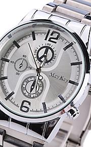 Masculino Relógio de Pulso Quartzo Lega Banda Casual Prata marca