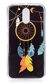 ל זוהר בחושך / תבנית מגן כיסוי אחורי מגן לוכד החלומות רך TPU ל Motorola MOTO G4
