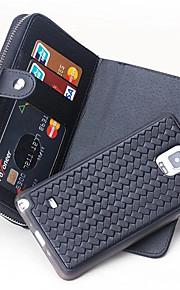 ל ארנק / מחזיק כרטיסים מגן גוף מלא מגן צבע אחיד קשיח עור אמיתי ל Samsung Note 5 / Note 4