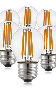 4W E26/E27 LED-gloeilampen G45 4 COB 400 lm Warm wit AC 220-240 V 6 stuks