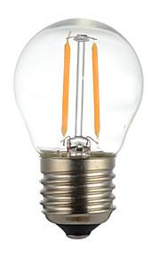2W E14 B22 E26/E27 LED-gloeilampen G45 2 SMD 2835 400 lm Warm wit Koel wit Decoratief AC110 AC220 V 1 stuks