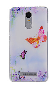 Voor Patroon hoesje Achterkantje hoesje Vlinder Zacht TPU voor Xiaomi Xiaomi Redmi Note 3