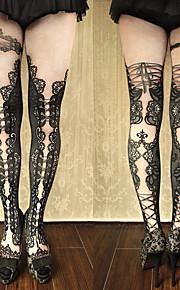 Socks/Stockings Gothic Lolita Classic/Traditional Lolita Punk Lolita Earring See Through Vintage Inspired Sexy Elegant Victorian Rococo