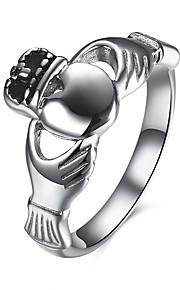Ringe Daglig Afslappet Smykker Rustfrit Stål Titanium Stål Dame Ring 1 Stk.,6 7 8 9 Sølv