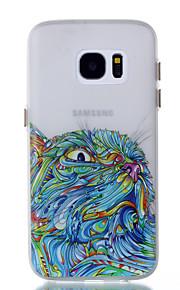 För Självlysande fodral Skal fodral Uggla Mjukt TPU för Samsung S7 edge S7