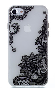 For Glow in the Dark Case Back Lace Flowers Pattern Soft TPU Cover Case for iPhone 7 Plus 7 6S Plus 6 SE 5