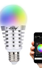 8W E26/E27 LED 스마트 전구 A60(A19) 10 고성능 LED 600 lm 따뜻한 화이트 차가운 화이트 내추럴 화이트 RGB 장식 AC 100-240 V 1개