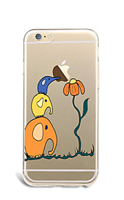 For Cartoon Case Back Cover Case Playing with Apple Logo Soft TPU for Apple iPhone 7 Plus iPhone 7 iPhone 6s Plus/6 Plus iPhone 6s/6