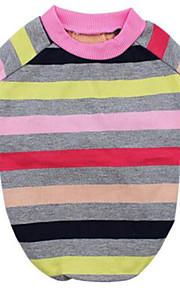 Perros Camiseta Multicolor Ropa para Perro Primavera/Otoño Rayas Casual/Diario
