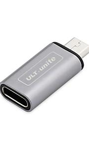 Aluminium-Legierung Shell USB-Typ-c Buchse auf Micro-USB-Stecker-Adapter USB Typ c Buchse auf Micro-USB-Stecker Lade Ladung Telefon