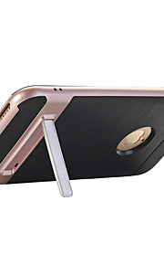 Para con Soporte Funda Cubierta Trasera Funda Un Color Dura Policarbonato para AppleiPhone 7 Plus iPhone 7 iPhone 6s Plus/6 Plus iPhone