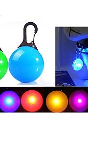 katten honden blafhalsband LED verlichting batterijen meegeleverd Effen Rood Wit Groen Blauw Roze Geel Oranje Zilver Kunststof
